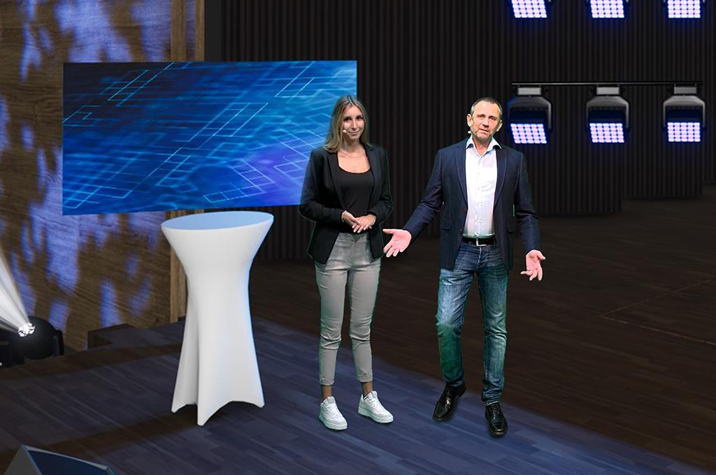 GET virtuelle Events Bühne mit Moderatoren